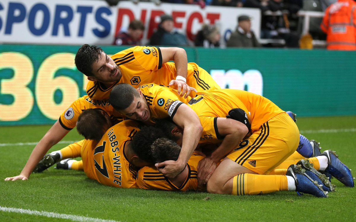 A 94th minute winner looks like this...  #NEWWOL