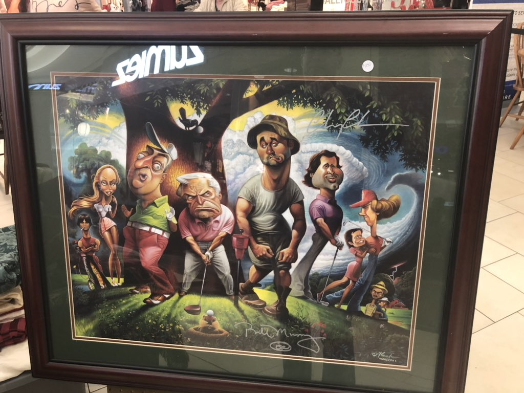 I was given an early Christmas present today: an original Caddyshack print with authentic autographs from Bill Murray, Chevy Chase and Michael O'Keefe! <br>http://pic.twitter.com/2UPrUh2LGY