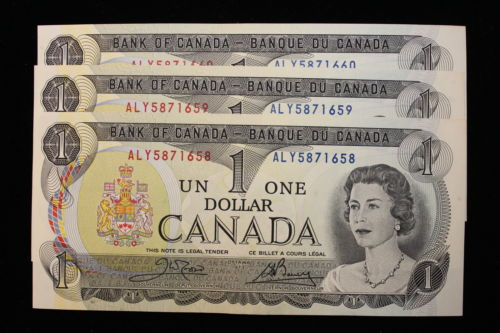 The Coin Hunter On Twitter 1973 Canada 1 One Dollar 6 X Consecutive Notes Series Aly Crow Bouey Https T Co Hiavtisxqe