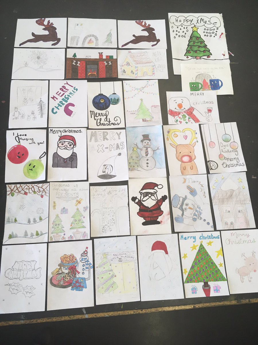 Dyce Expressive Arts Ar Twitter So Our Annual Christmas Card Competition Run By The Art Department Was A Huge Success Mrs Adam And Mr N C Were Amazed At The Ideas Congrats To
