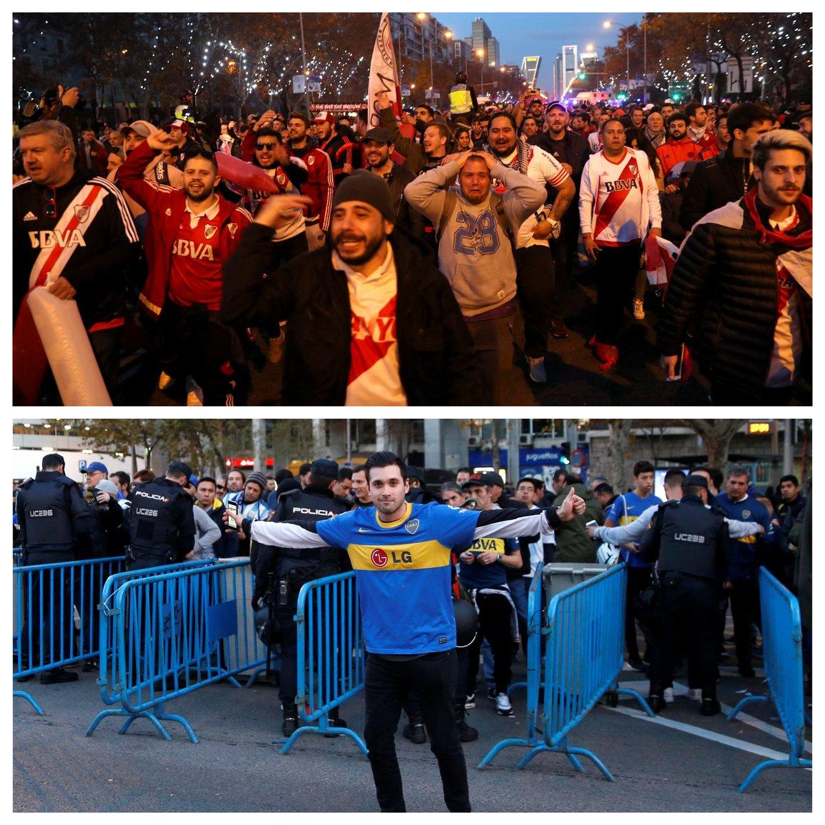 Se liga no clima para a final da Libertadores, entre River Plate e Boca Juniors https://t.co/wpW8shTQAn