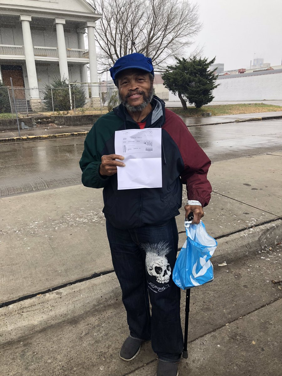 For Christmas Mr. Johnson wanted a ticket back home to Charlotte, NC . I got his ticket, he leaves in the AM . I also got him a phone so he contact his family when he makes it & $100 cash for the Road. Merry Christmas & thank you for your service Mr. J, get home safe