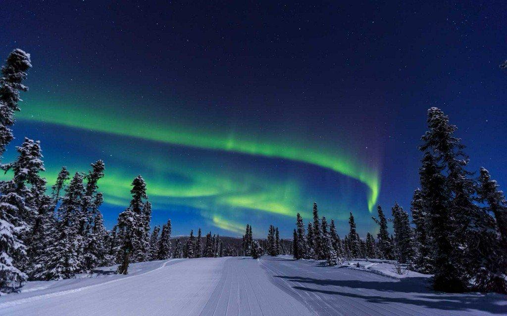 Белое северное сияние фото