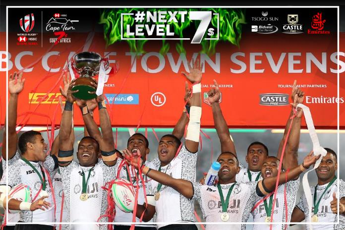 Congratulations @FijiRugby, champions of the HSBC Cape Town Sevens for 2018! #NextLevel7s