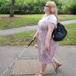 Image for the Tweet beginning: My long white cane gives