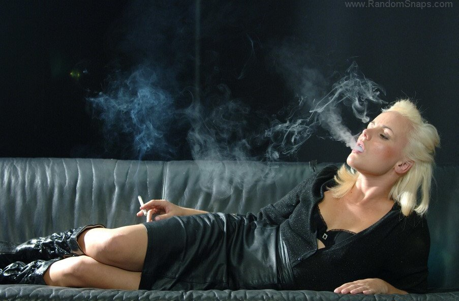 Wonderful girl is a marlboro reds heavy smoker