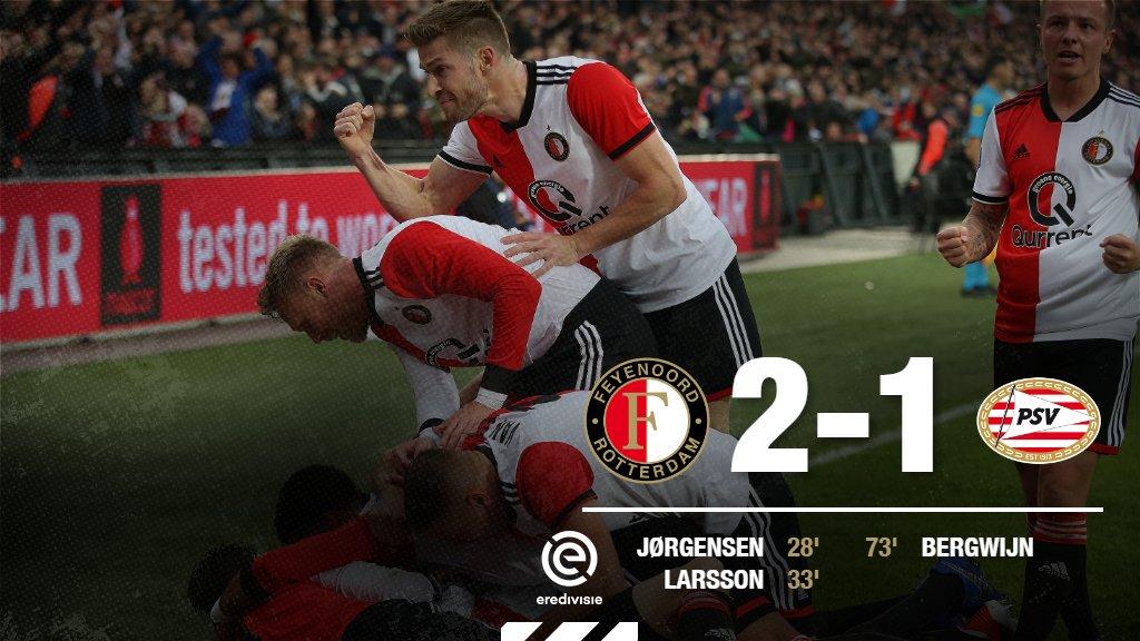 BAMMM!  Feyenoord verslaat PSV! 🔴⚪️⚫️  #feypsv