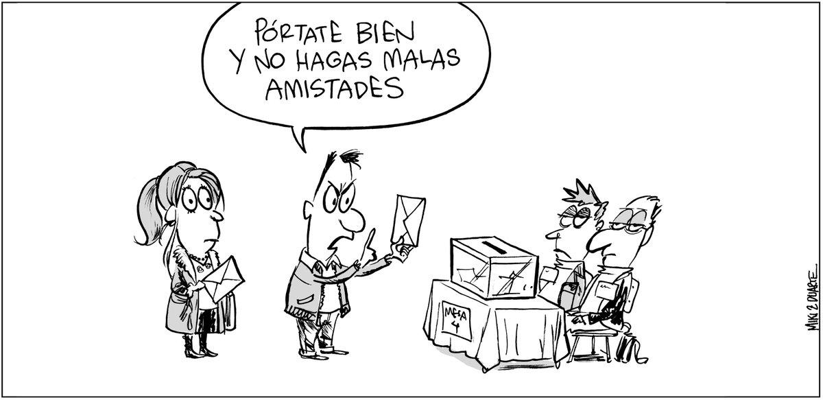 #EleccionesAndalucía #EleccionesAndaluzas #Elecciones2D viñeta publicada en los diarios del @grupojoly