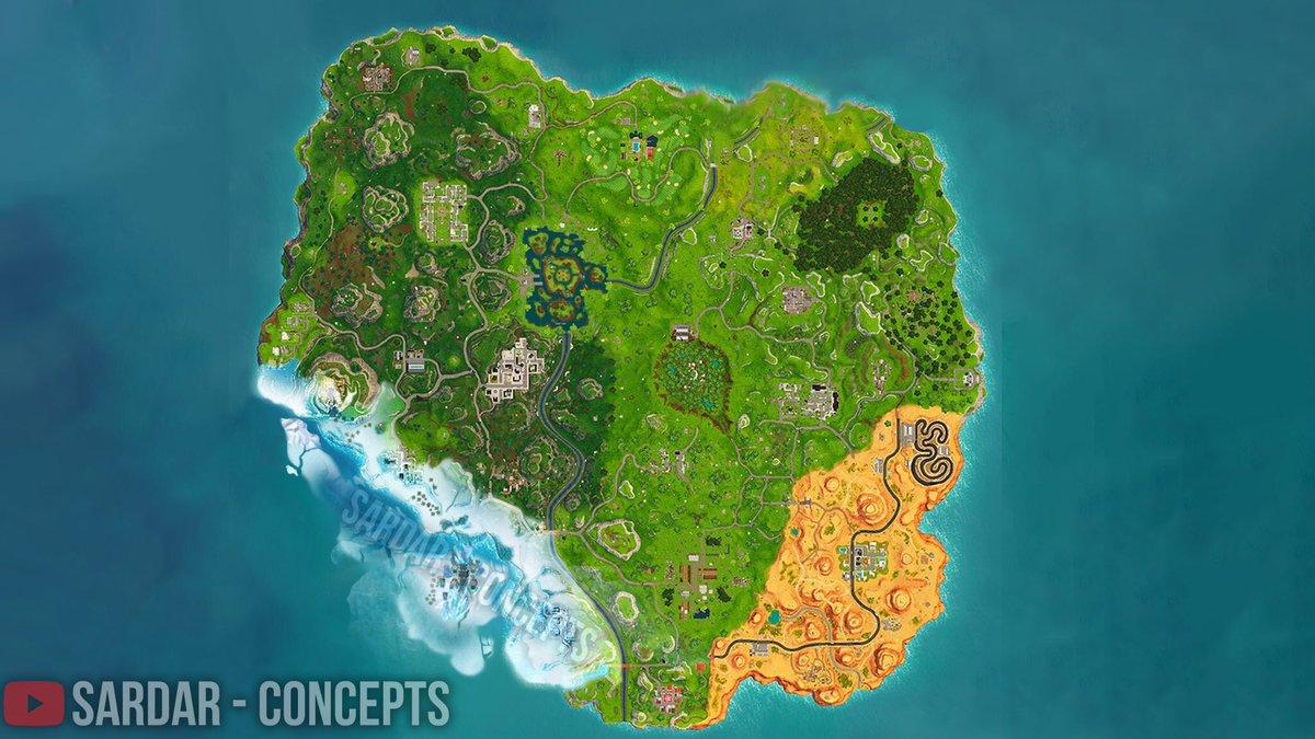 Fortnite Temporada 7 Mapa.Fortnite Info On Twitter Concepto E Idea De Nuevo Mapa De