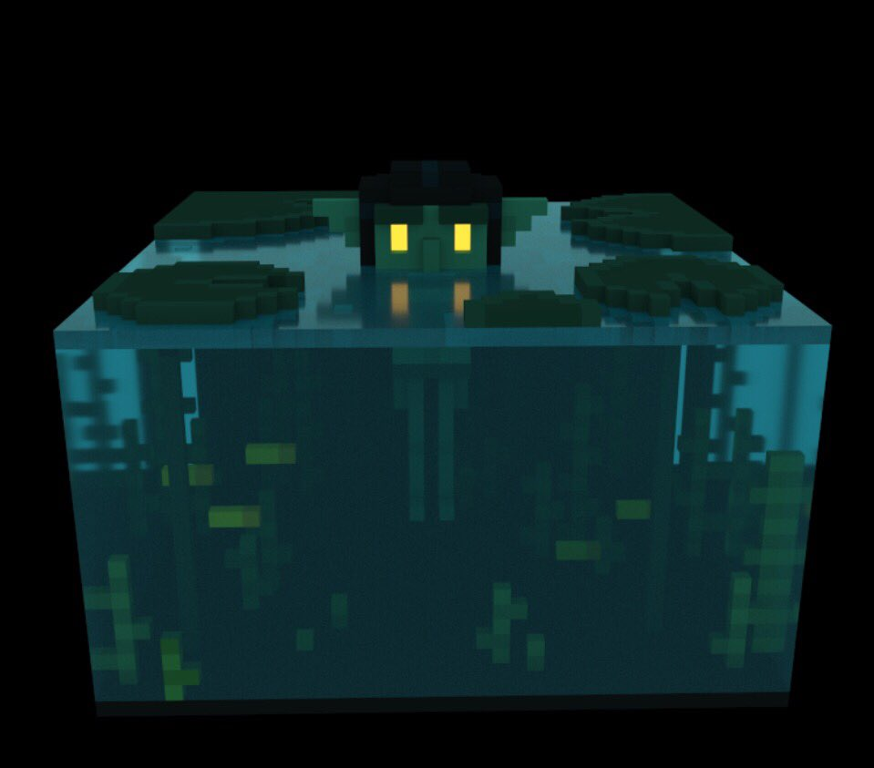 Another voxel thingy  A water goblin  I know it's barely