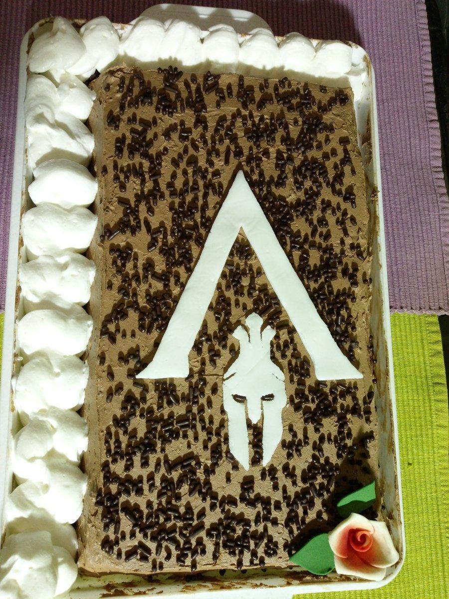 Icy On Twitter My Husband Made Me The Best Birthday Cake Ever AssassinsCreed Assassinscreedodysey ACOdyssey Birthdaycake