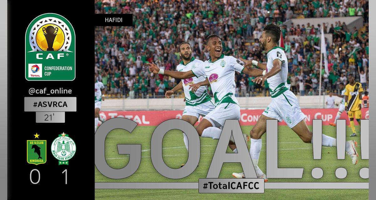 Caf On Twitter Gooooaaal Abdelilah Hafidi Scores A Goal For Raja Casablanca As Vita Club Raja Casablanca   Totalcafcc Asvrca