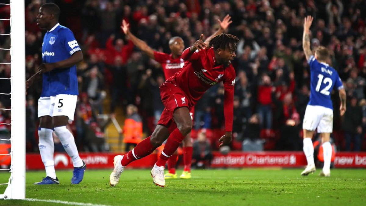 Origi stuns Everton with 96th-minute winner! ⚽  Liverpool have scored more 90th minute winners in Merseyside derby than any side has against another in #PremierLeague history ✌  Do you want a rematch? Play now with your team the season 2018-19 in FCS ▶ https://t.co/P2BmxRSbVg https://t.co/P6DO1reKiU