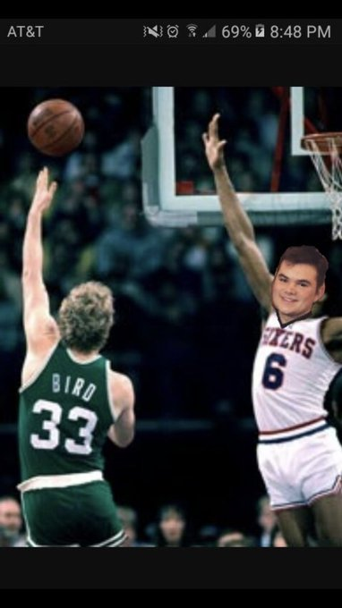 Happy birthday throwback to this gem balling with Larry Bird