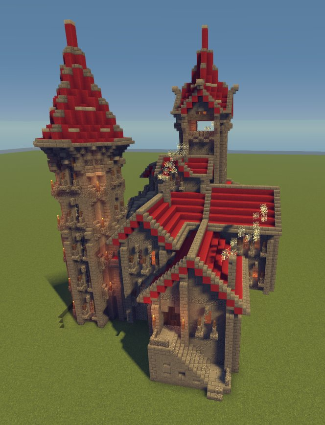 Minecraft Server Net On Twitter Neo Gothic Castle Palace