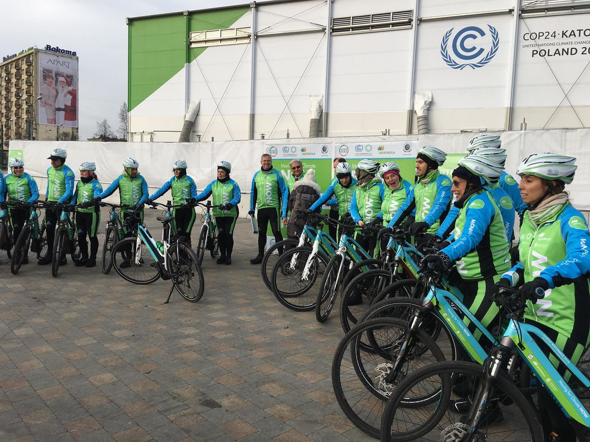 "COP24 ""Eles chegaram a Katowice de bicicleta"""