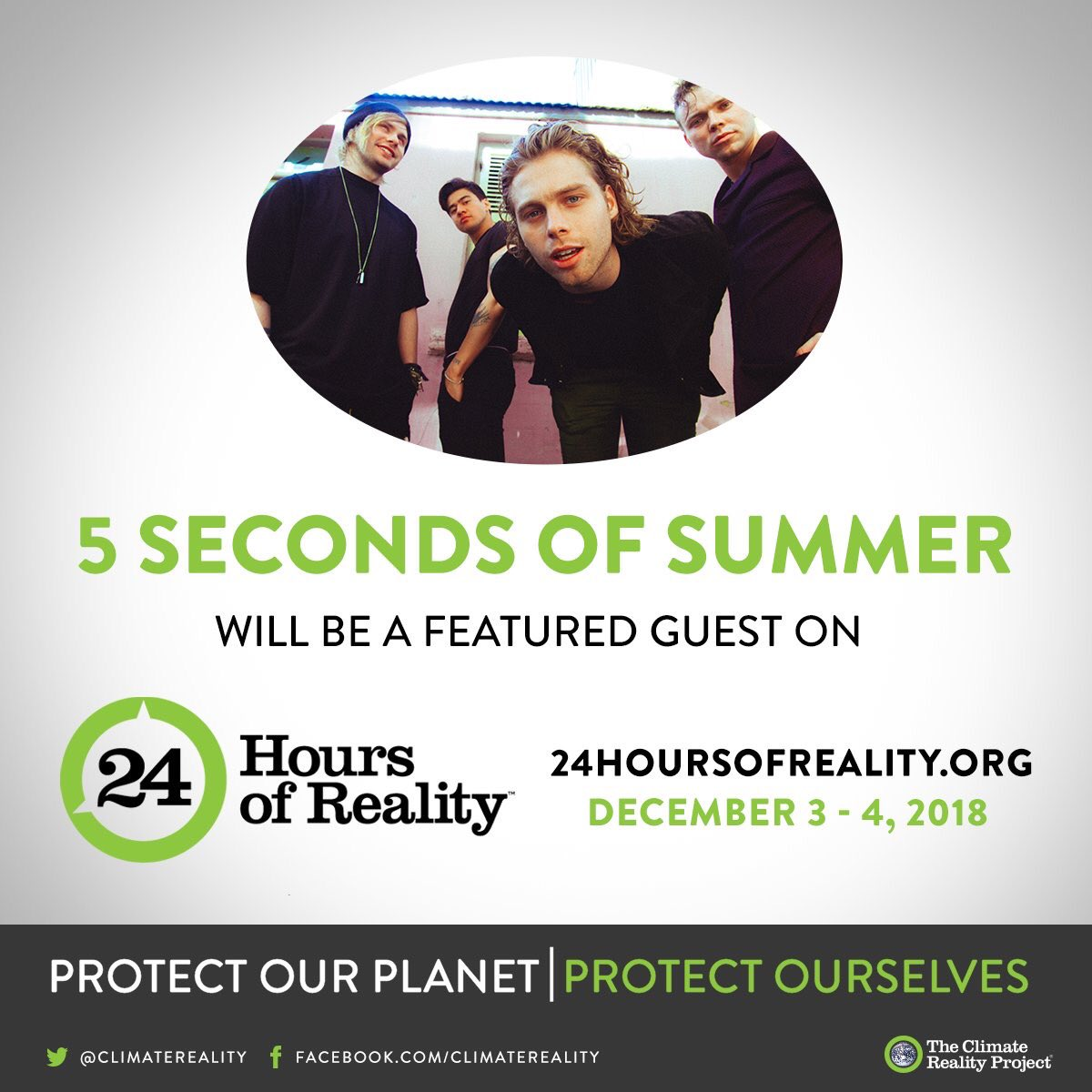 Anything is possible when we all come together // We're honored to join @climatereality on Dec. 3-4 for #24HoursofReality, the largest global conversation on the climate crisis. Please make yourselves aware // http://bit.ly/2yXUGW2