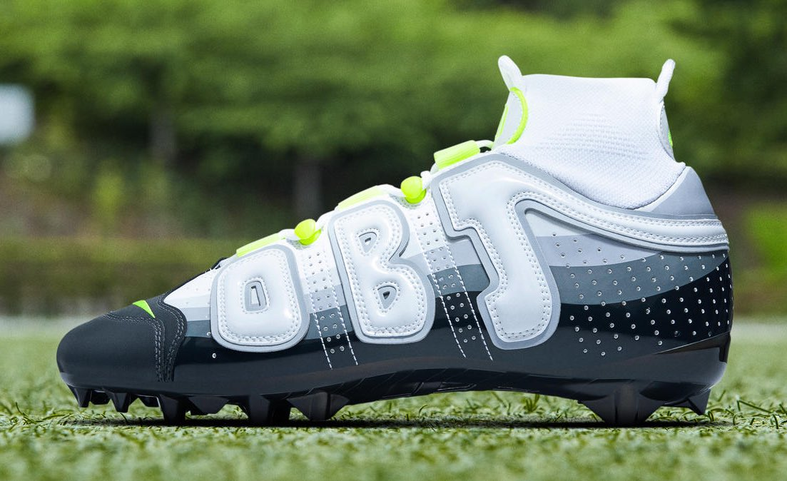"""5326699f66a obj s latest pair of Nike Vapor Untouchable Pro 3 OBJ cleats takes cues  from the iconic """"Neon"""" Air Max 95. http   pic.twitter.com UFXZSHwCPN ."""