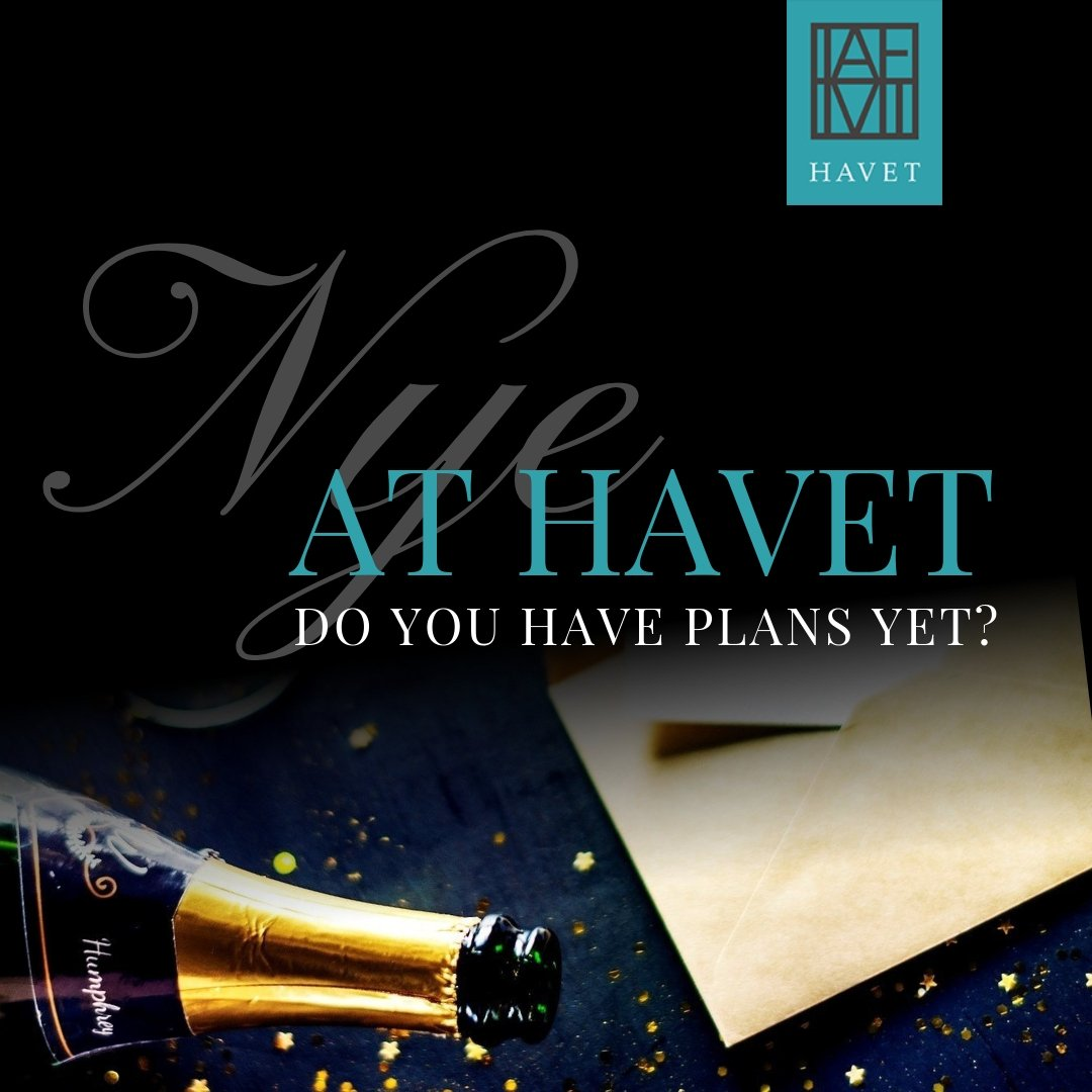 #2019 is just around the corner! For an unforgettable night book your space here at #Havet! http://ow.ly/MSUv30mHGdC #NYE