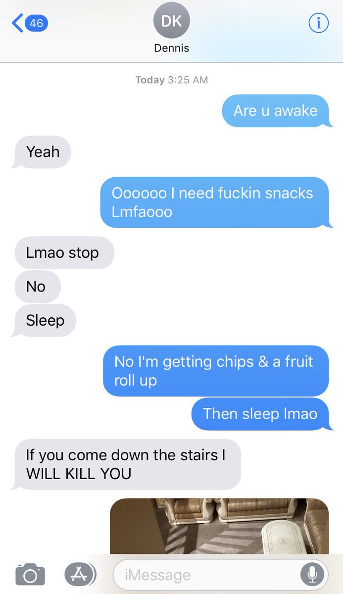 Brandon Awadis On Twitter I Woke Up At 3 Am For A Middle Of The Night Pee Sesh Realized I Was Hungry Texted My Best Friend Who Lives Downstairs