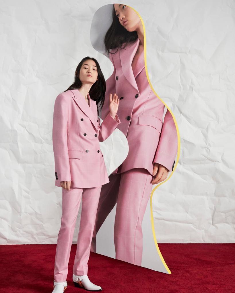 Timeless tailoring  the  PreSpring2019  205W39NYC collection features  investment-worthy blazers and slim trousers in vivid 33ae386e2