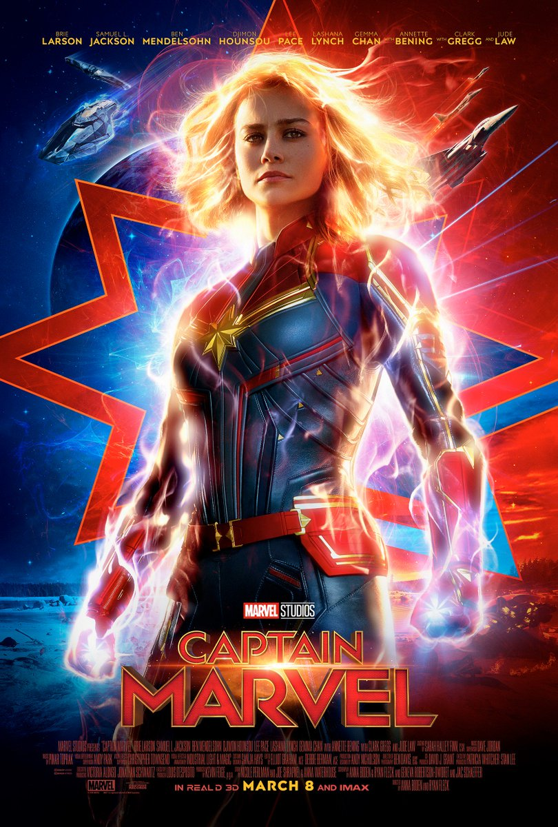Check out the new poster for Marvel Studios' #CaptainMarvel, and tune in to 's Monday Night Football to see the brand new trailer!