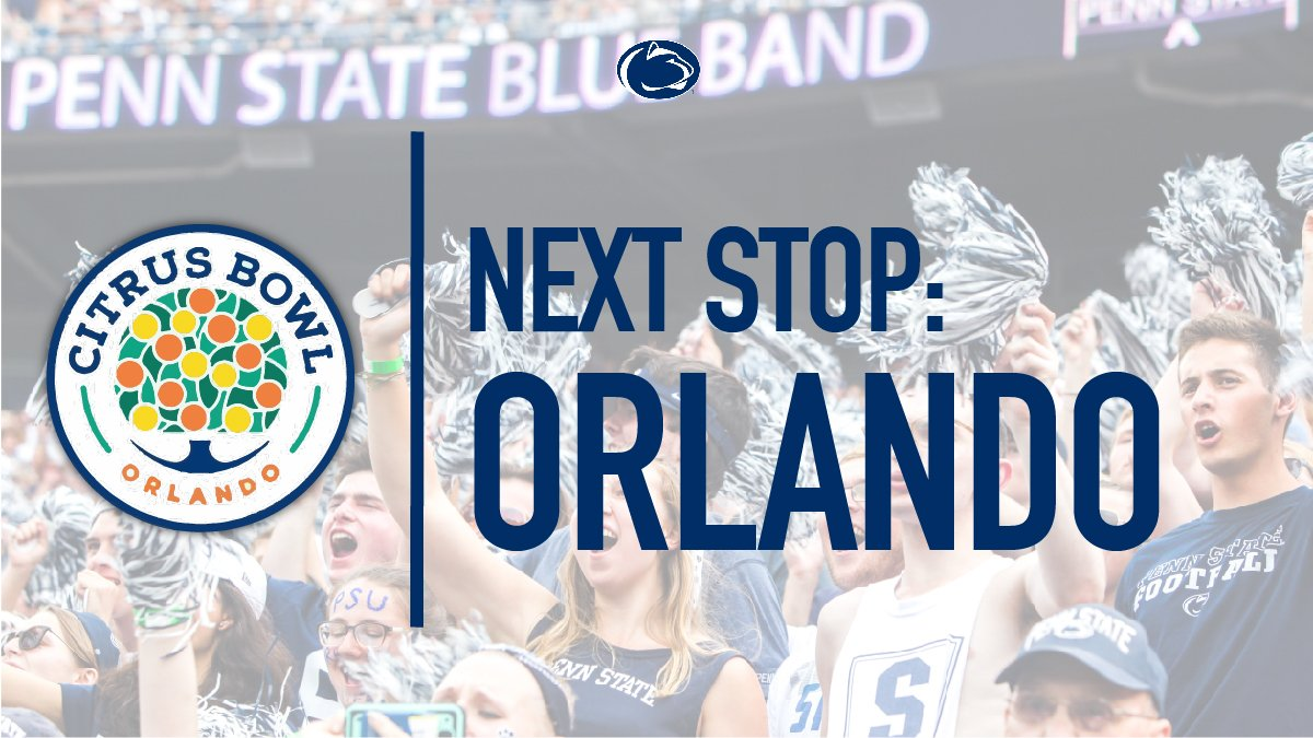 It's been announced! 🍋🍊🏈 #CitrusBowl #PennState #WeAre #psufootball