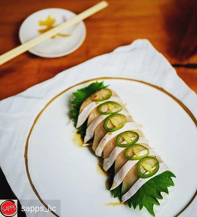 yellowtail sashimi with serrano peppers - 640×705