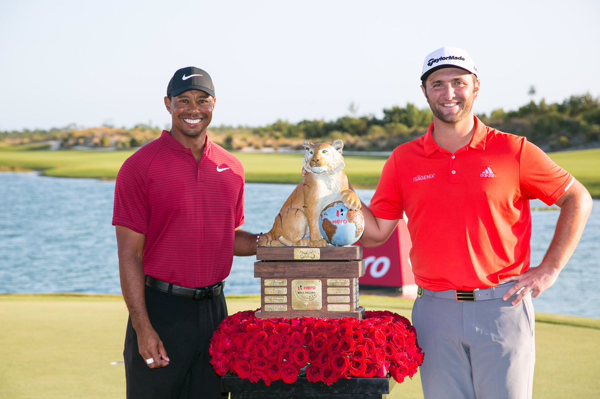 Congrats to @JonRahmpga on a great win at #HeroWorldChallenge! Thanks to my @TGRLiveEvents staff and @HeroMotoCorp for another successful tournament!
