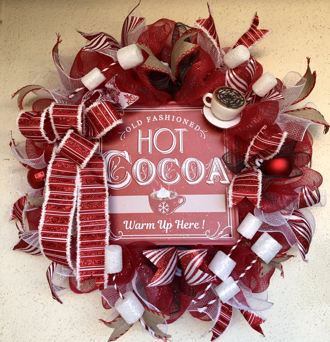 Wondrous Wreaths On Twitter Hot Cocoa Christmas Wreath With