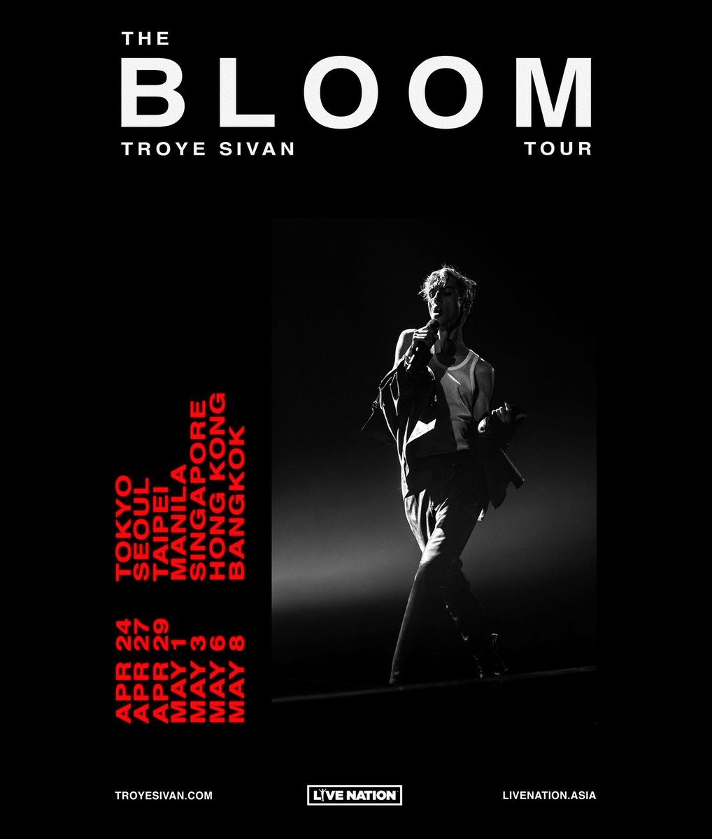 Troye On Twitter Bloom Tour Asia