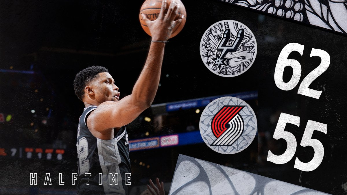 Headed to the break with the lead after a solid first half! LA: 16 PTS | 3 REB Rudy: 10 PTS DeMar: 10 PTS | 2 REB | 2 AST Patty: 9 PTS | 5 AST Davis: 6 PTS Derrick: 5 PTS | 4 AST | 4 REB