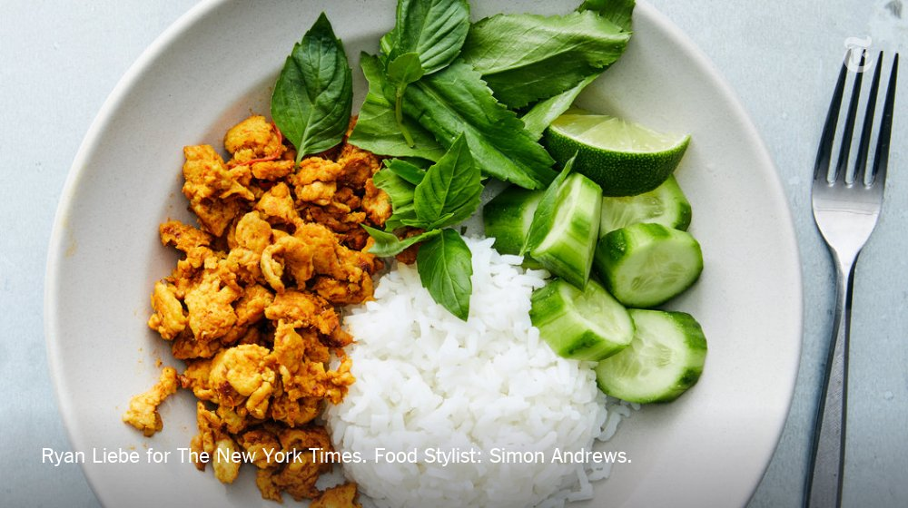This simple adaptation of a traditional Southern Thai dry red curry, is grounding and spicy https://t.co/wH7kEcmojx https://t.co/vsjZ1TCRWO
