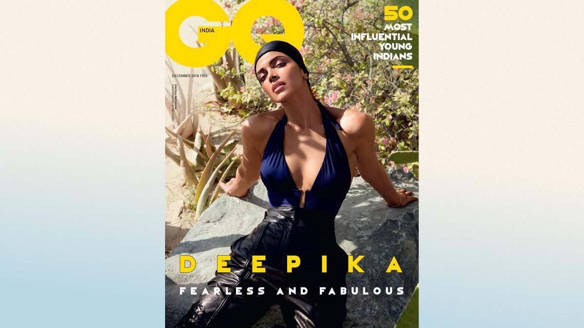 We saved the best for last! For the final cover of our 10th Anniversary Year, presenting the Fearless, Fabulous @deepikapadukone. The #December2018 issue is out Thursday, December 6. Mark your calendars. #GQ10.  #DeepikaPadukone #FearlessAndFabulous #DP #CoverStar #Cover.