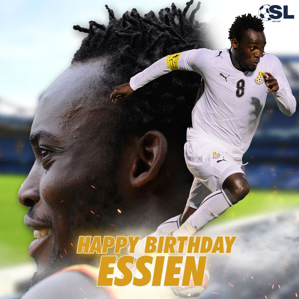   Happy Birthday to former Ghana international midfielder, Michael Essien!