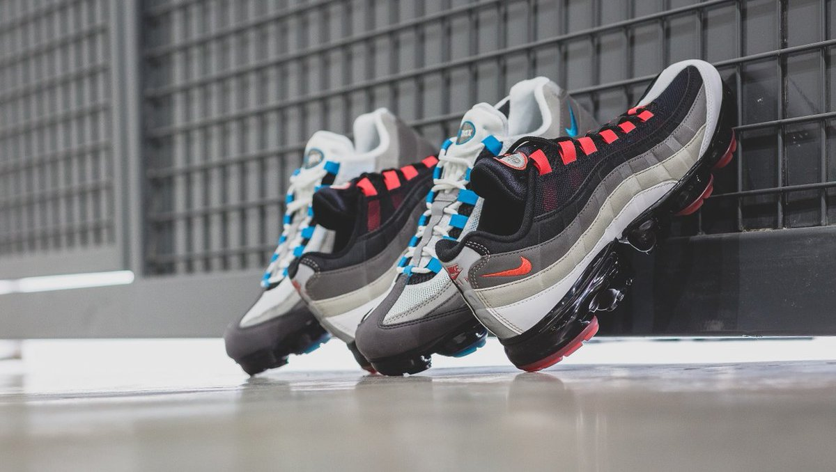 """huge discount 429ff 89938 New colorways of the Nike Air VaporMax 95 """"Hot Red"""" and """"Neo Turqoise"""" are  now available online and in-store  www.thegoodlifespace.com   WORLDWIDE  ..."""
