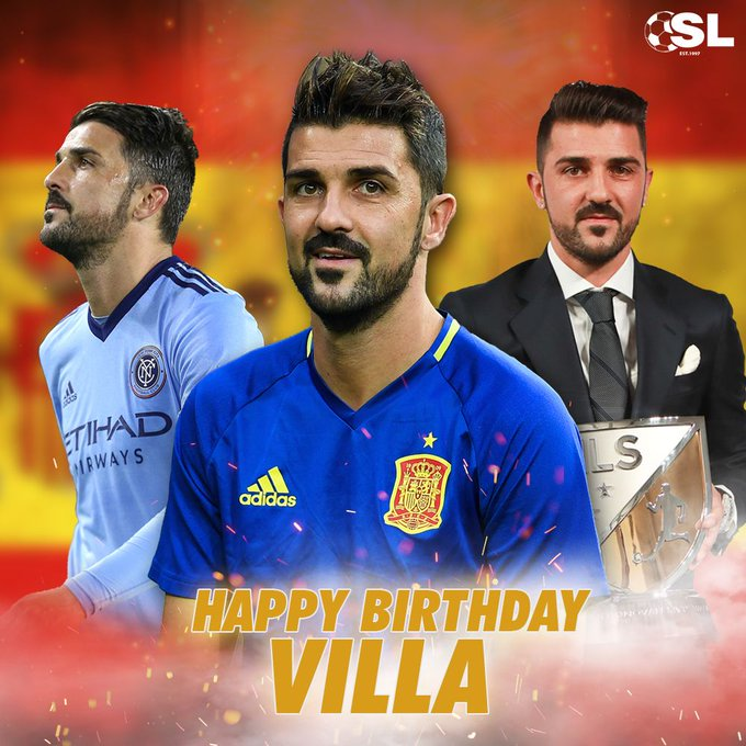 | Happy Birthday to 2010 FIFA World Cup winner, David Villa!