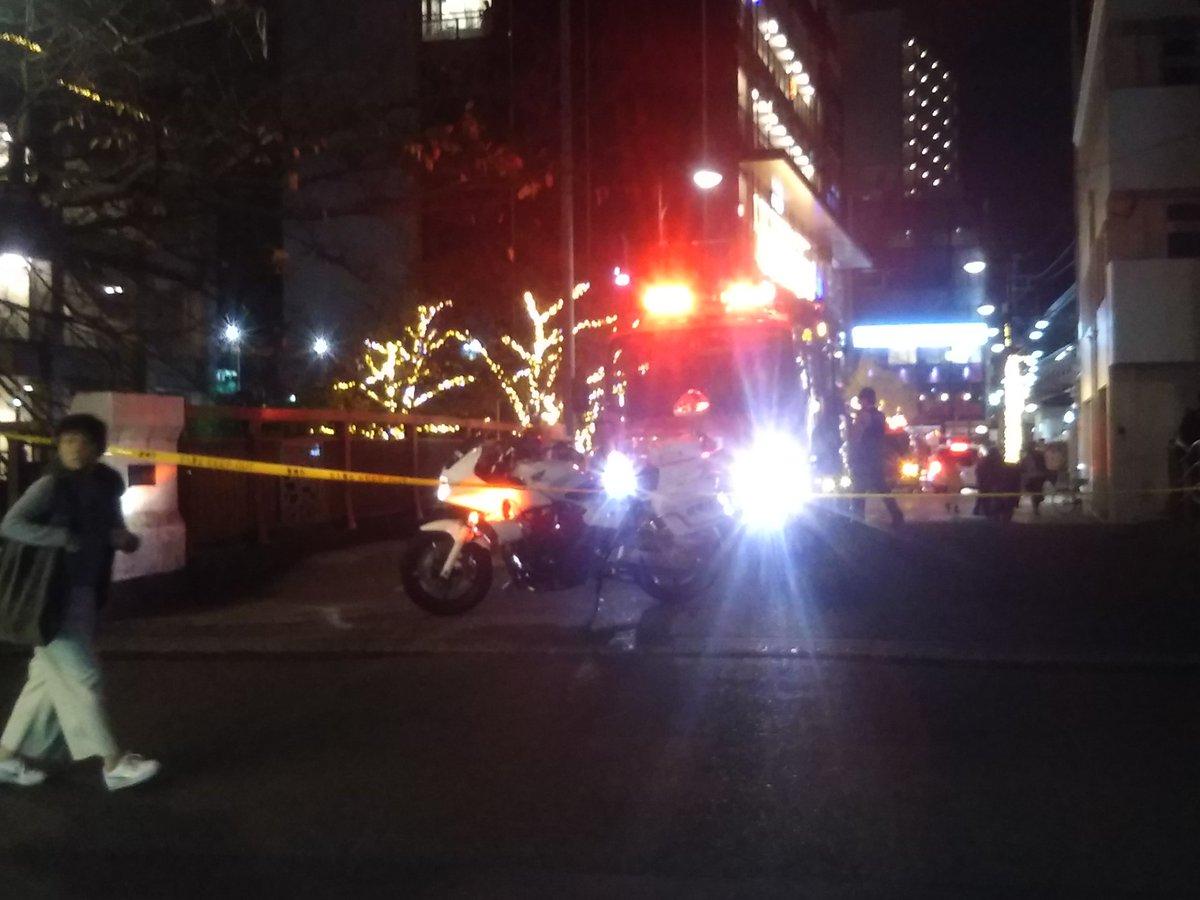 目黒区上目黒で何らかの事件・事故が起きた現場の画像