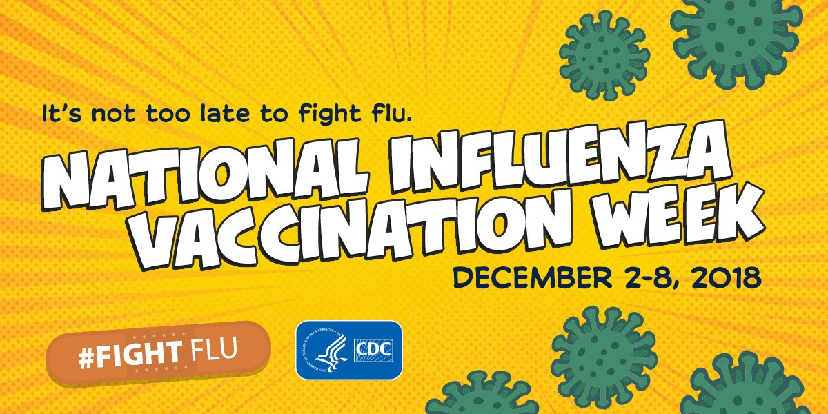 Today begins National Influenza Vaccination Week. This #NIVW we're highlighting how #fluvaccine is the most important step to #fightflu. Flu vaccination has been shown to prevent illness, hospitalizations & can even be life-saving for children. Learn more:  https://t.co/ZkyFcD6rBV
