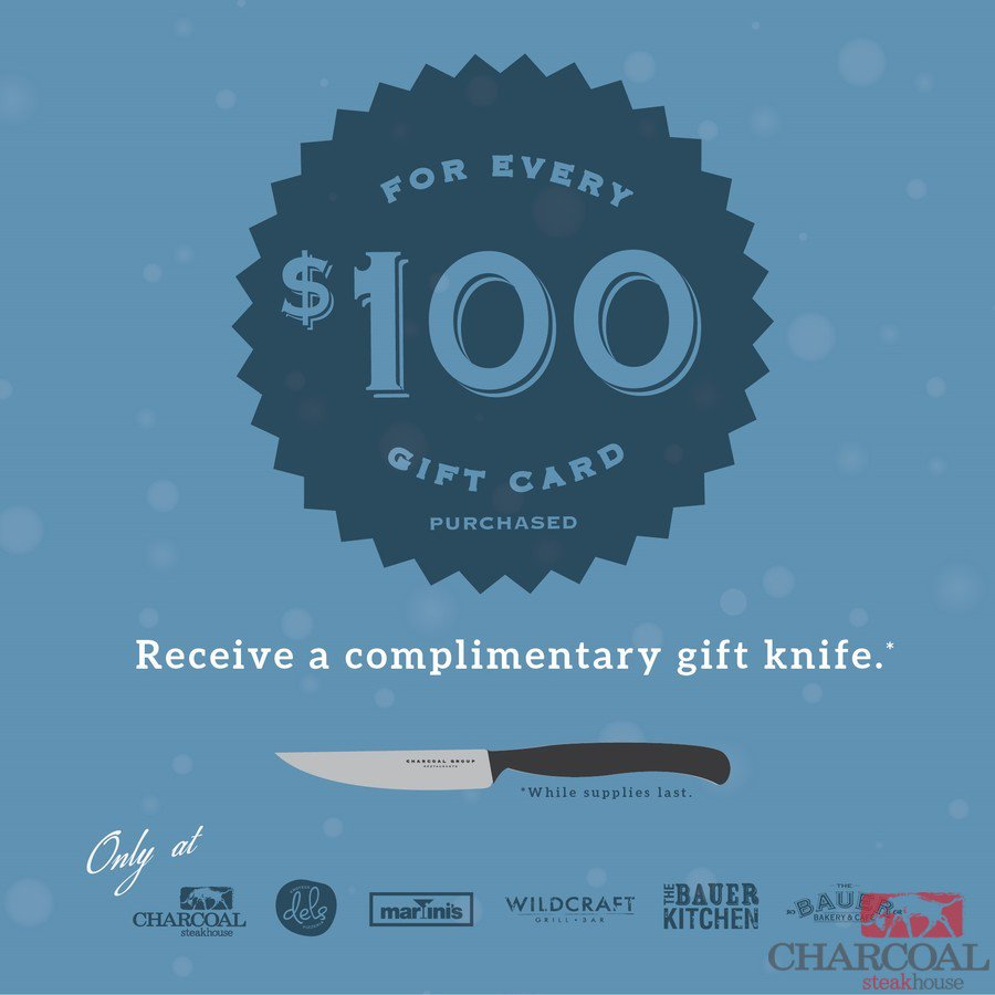 It's that time of year! Don't miss out on your Charcoal Steak Knife! Our gi... https://t.co/5Eb24wldLJ https://t.co/zUQtujj6ph
