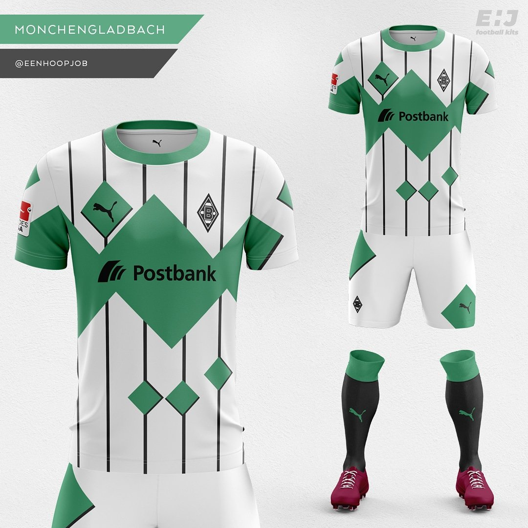 Job - Eenhoopjob Football Kit Designs Borussia Mönchengladbach Home Kit  Concept. Please rate 1-10. Thoughts about this design  Based on the 91-92  goalkeeper ... 927ffd04b
