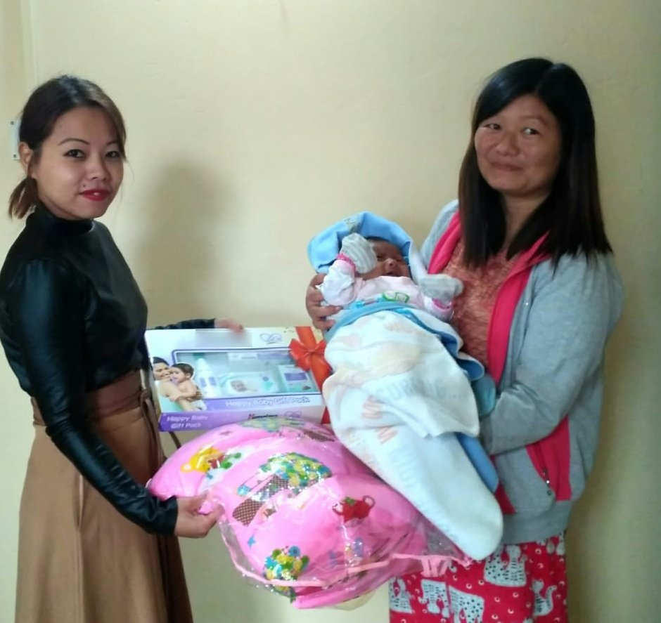 Our passionate #BetiBachaoBetiPadhao team in Mokokchung district, #Nagaland conducted Door-To-Door Awareness Campaign and also distributed Baby Kits to Young mothers.  We reaffirm our commitment of Saving & Educating every Girl Child.