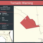 Image for the Tweet beginning: Tornado Warning including Lafayette County,