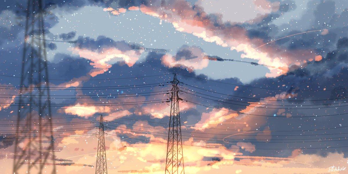 夕暮れ鉄塔