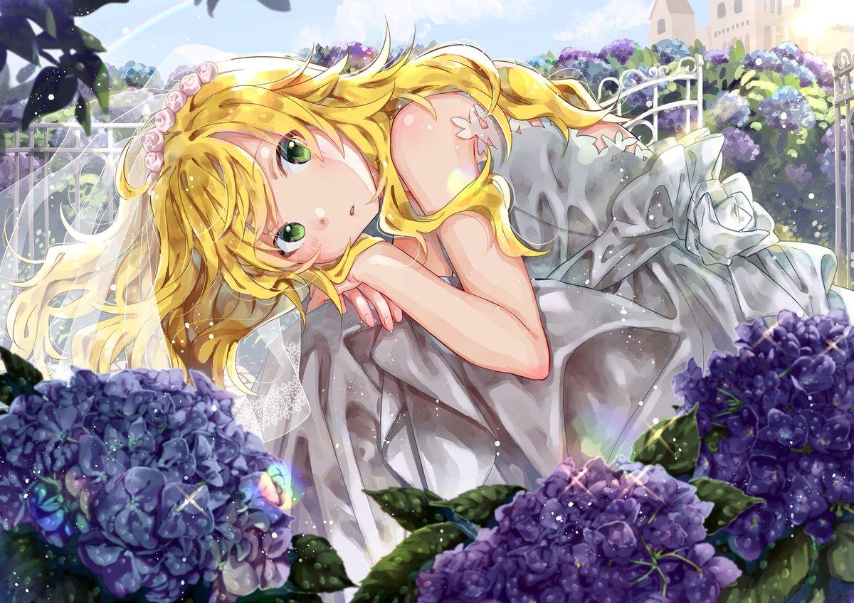 星井美希ちゃん描きました「雨上がりの花嫁」