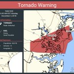 Image for the Tweet beginning: Tornado Warning continues for Brunswick