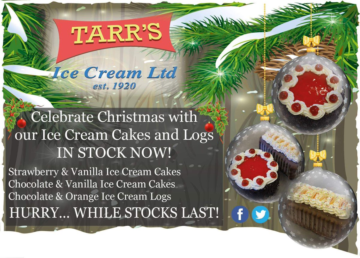 Ice cream cakes and logs now in stock 🎄🎁🎅❄️⛄