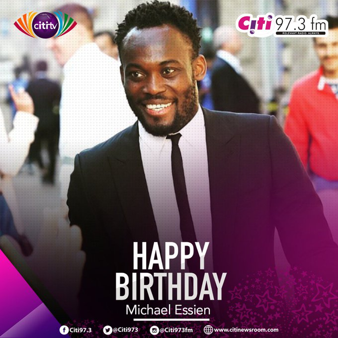 Happy birthday to \The Bison\  Have a fantastic day Michael Essien!