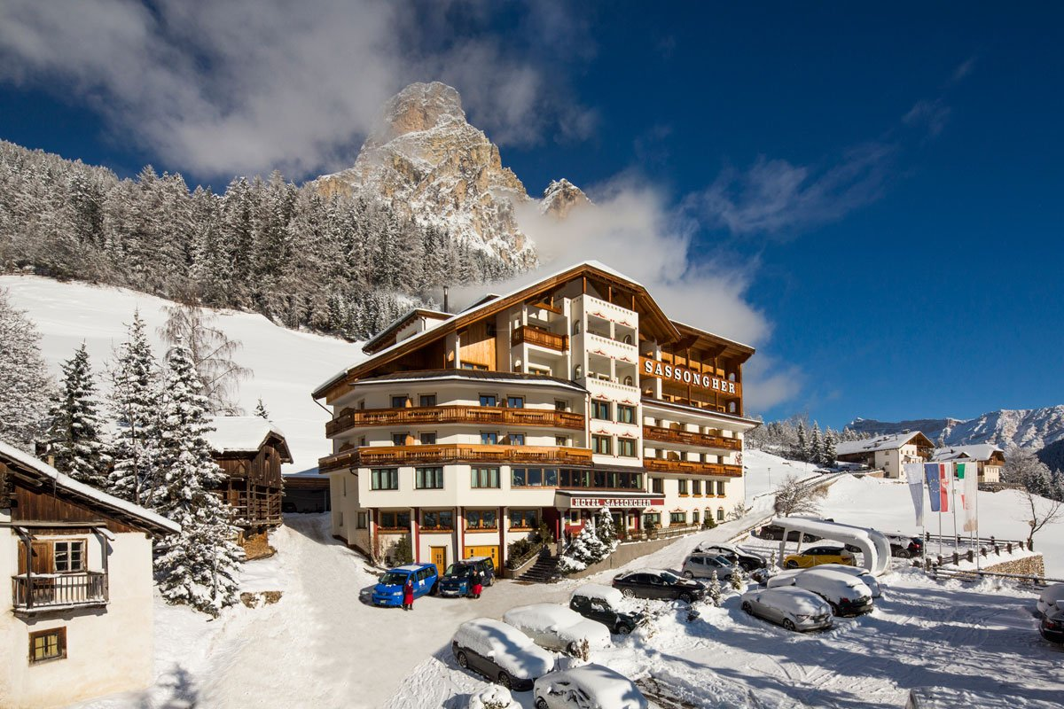 Winter holidays in Corvara in Badia, the skiing pa...