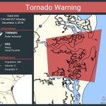 Image for the Tweet beginning: Tornado Warning including Camden County,